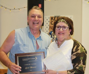 Lynne Marwick and Joel McCartney received the award for Community Partner of the Year.